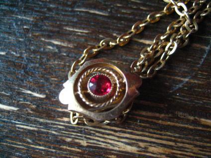 überlange Jugendstil Schieberkette Damen Uhrenkette 149 cm Kette Schieber gold