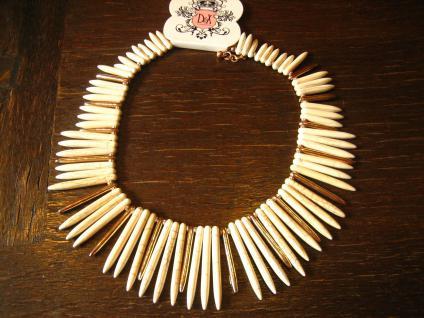 prächtiges Designer Statement Collier Kette Nude und Gold edel im Kleopatra Stil