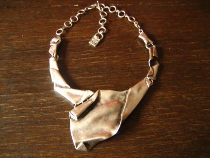 avantgardistisches edles Statement Collier Kette Designer Leonardi Arte silber