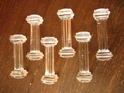 6 schöne antike Art Deco Messerbänkchen Pressglas Glas edel und praktisch