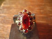 Feiner Art Deco 333er Gold Granat Ring böhmische Granate zeitlos nostalgisch