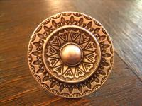 prächtiger Statement Ring Boho Ethno Designer Leonardi Arte silber 4 cm rund