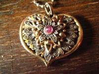 Liebesgrüße aus Italien traumhafter vintage Designer Herz Anhänger 925er Silber