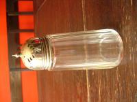 nostalgischer Puderzuckerstreuer Zuckerstreuer Kakaostreuer Glas / silber pl