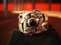 exklusiver Ring Drache 2 Drachen Double Dragon Gothic 925er Silber et Nox RG 65