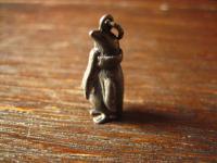 süßer verfrorener Pinguin mit Schal Anhänger Kinder Bettelarmband 925er Silber