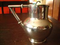 edler Art Deco Silberkrug Kanne Krug Karaffe Saftkrug Deckel silber pl Sheffield