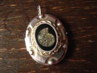 einzigartiges Jugendstil Medallion Ammonit 800er Silber Art Nouveau Locket