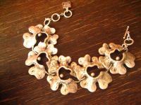 edles Statement Armband Romantik Blüten Designer Leonardi Arte silber Dirndl