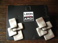 ausgefallene exklusive Statement Ohrringe Stecker Designer Leonardi Arte silber