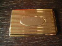 elegantes kleines Adressbuch gold - farbenes Etui Visitenkarten-Format für die Tasche