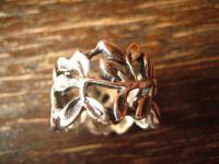 moderner sehr breiter Ring Bandring Rosenblätter Blätter 925er Silber neu RG 19