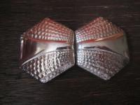 prächtige Art Deco Gürtelschließe Gürtelschnalle chrom verchromt ausgefallen
