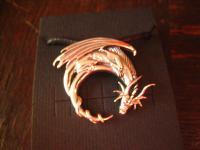 bezaubernd schöner Anhänger Mystischer Drache Fantasy Dragon 925er Silber neu