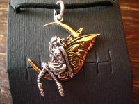 bezaubernde Elfe im Mond spielend Fairy in Moon original et Nox silber gold neu