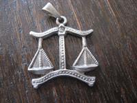 Anhänger Bettelarmband Sternzeichen Waage 925er Sterling Silber sehr schön