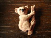 witzig originelle Vintage Brosche Koalabär Koala Bear Bär 60er Jahre Modeschmuck