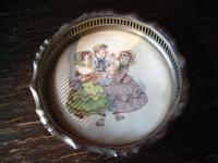 bezauberndes Tablett Galerietablett für Puppenstube Puppenküche Keramik Kinder