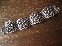 Opulentes super schweres Vintage Armband 4 cm breit 925er Silber 74, 5 gr Dirndl