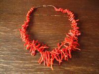 vintage Kette echte Rote Koralle Astkoralle ungefärbt Verlauf 48 cm Traum ROT
