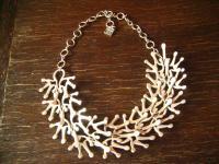 extravagante Statement Collier Kette Designer Leonardi Arte alt - silber
