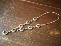 Kronjuwelen gesucht ? prächtiges smaragd grün diamant Collier 925er Silber gold