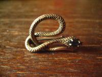 reizende Jugendstil Schlangen Brosche Krafttier Schlange 925er Silber Saphir
