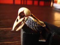 cooler Ring Crow Skull Krähe Skelett Schädel neu et Nox Gothic Deluxe RG 62
