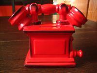 original Goebel Sparkasse Spardose Sparbüchse das rote Telefon sehr gut erhalten
