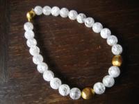herrliches Bergkristall Collier Kette gold Elemente 925er Silber vergoldet 44 cm