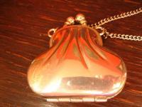 reizendes vintage Täschchen winzige Tasche als Anhänger silber Kette Geldbörse