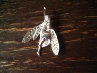 bezaubernder Glücksbringer Fee Elfe Fairy Pixie Anhänger 925er Silber neu