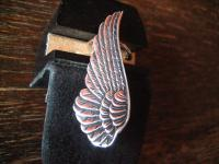 extravagante Gothic Fantasy Elfen Ohrklemme Flügel Wing 925er Silber et Nox neu