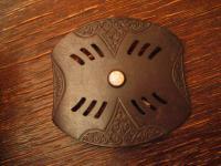 Sammler Rarität antike Biedermeier Gürtelschließe Gürtelschnalle Eisen brüniert