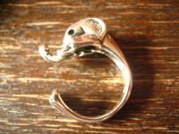 süßer Elefantenring Elefant Babyelefant Ring 925er Silber neu plastisch RG 19