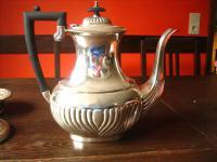 elegante antike Kaffeekanne Kanne Silberkanne Queen Anne silber pl Sheffield