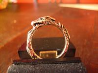 feiner sehr edler Drachen Ring Drache Dragon 925er Silber RG 62 original et Nox