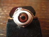 origineller vintage Designer Ring Auge 925er Silber Glasauge Augen Ring RG 55