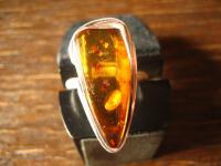 Traumhaft schöner Bernstein Ring 925er Silber freie Form Unikat 20, 25 mm RG 64