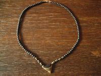 außergewöhnliches vintage Designer Collier Onyx 333er Gold Kugel Kette Dreieck