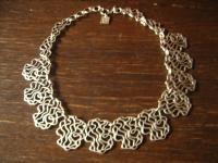 verschlungene Statement Collier Kette Morgana Designer Leonardi Arte silber