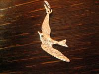 Möwe im Flug maritimer Anhänger Vogel Albatros Silbermöwe 925er Silber Charm