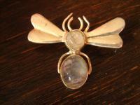 bezaubernde Insekten Brosche Biene Schmetterling Falter 925er Silber Mondstein