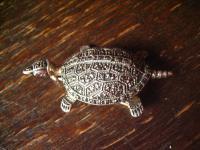 bezaubernde vintage Markasit Brosche Schildkröte 925er Silber plastisch einmalig