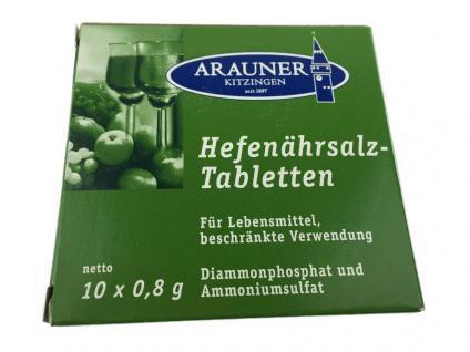 Arauner Kitzinger Hefenährsalz-Tabletten 10x 0, 8g zum Wein selber machen