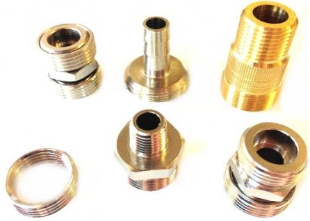 Adapter 1/4 5/8 3/4 Zoll IG AG Zapfanlage Fitting Verschraubung Druckminderer