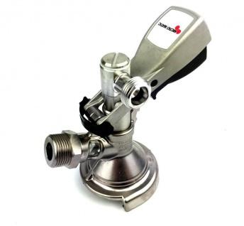 """Winkel Kombi Keg Zapfkopf 90° Micro Matic seitlich 5/8"""" Thekenanstich Zapfanlage"""