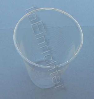 1000 Trinkbecher 0, 4 klar Ausschankbecher Plastikbecher