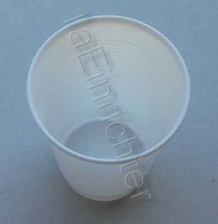 3000 Trinkbecher 0, 2 weiß Ausschankbecher Plastikbecher
