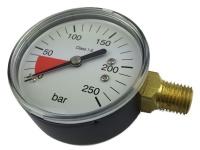 Manometer 0-250 Bar Druckminderer Ersatzteil reparieren Zapfanlage Anzeige